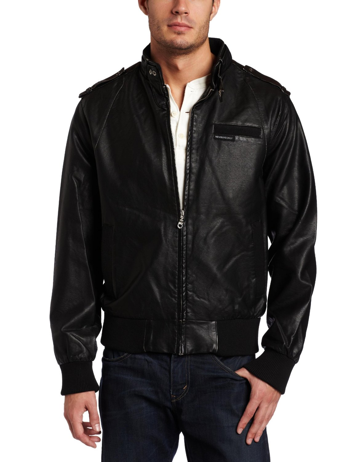 Members only leather jacket men